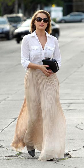 white-maxi-skirt-white-collared-shirt-blonde-bob-spring-summer-dinner.jpg
