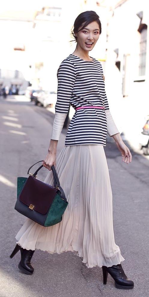 white-maxi-skirt-black-tee-stripe-belt-brun-burgundy-bag-black-shoe-booties-fall-winter-lunch.jpg
