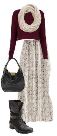 white-maxi-skirt-print-black-bag-black-shoe-booties-white-scarf-burgundy-sweater-fall-winter-weekend.jpg