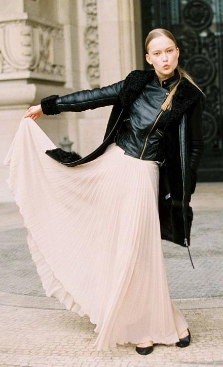 white-maxi-skirt-pleated-pony-black-jacket-moto-fall-winter-blonde-dinner.jpg