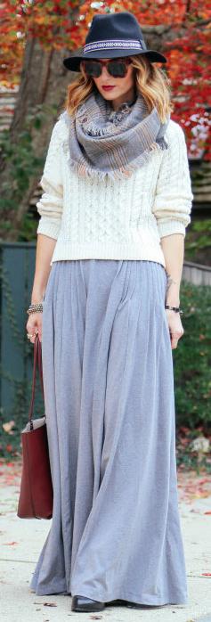 white-sweater-grayl-scarf-hat-sun-blonde-brown-bag-grayl-maxi-skirt-fall-winter-lunch.jpg
