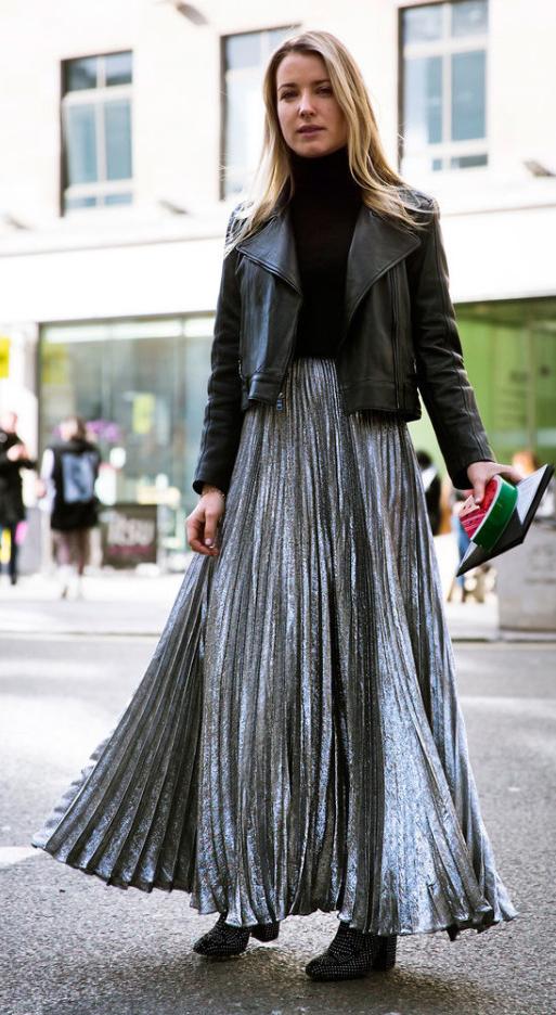grayl-maxi-skirt-silver-black-sweater-turtleneck-black-shoe-booties-black-jacket-moto-fall-winter-blonde-lunch.jpg