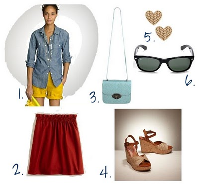 red-mini-skirt-blue-light-collared-shirt-sun-studs-blue-bag-cognac-shoe-sandalw-howtowear-fashion-style-outfit-spring-summer-lunch.jpg