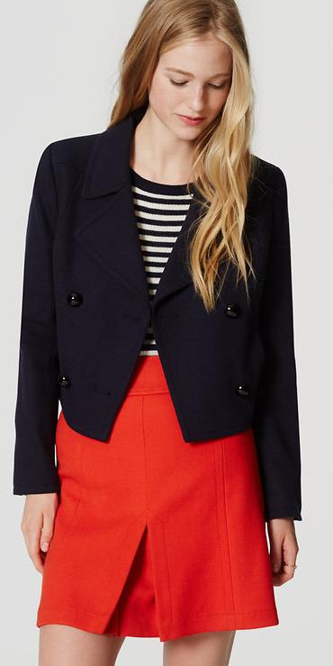 red-mini-skirt-blue-navy-tee-stripe-wear-style-fashion-fall-winter-blue-navy-jacket-blonde-lunch.jpg