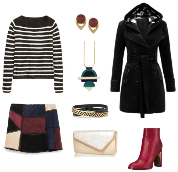 r-burgundy-mini-skirt-black-sweater-stripe-black-jacket-coat-howtowear-fashion-style-outfit-fall-winter-coat-patchwork-clutch-bright-pend-necklace-studs-red-shoe-booties-mix-prints-lunch.jpg