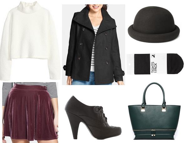 r-burgundy-mini-skirt-white-sweater-black-jacket-coat-green-bag-style-fall-winter-taylorswift-peacoat-turtleneck-hat-oxford-black-shoe-pumps-black-tights-lunch.jpg