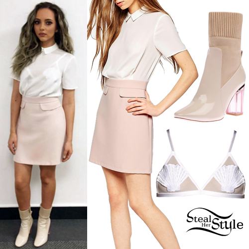 pink-light-mini-skirt-white-top-blouse-white-bralette-white-shoe-booties-sheer-jadethirlwall-spring-summer-hairr-lunch-dinner.jpg