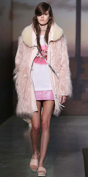 pink-light-mini-skirt-white-graphic-tee-pink-light-jacket-coat-fur-hairr-tan-shoe-sandals-spring-summer-weekend.jpg