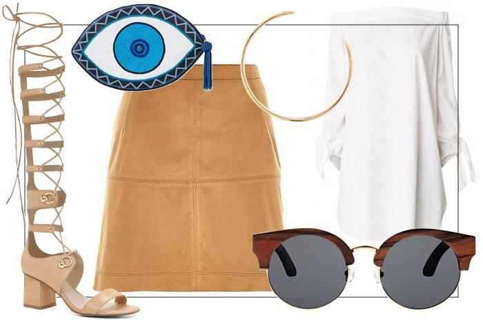 tan-mini-skirt-blue-bag-necklace-sun-tan-shoe-sandalh-gladiator-cage-white-top-offshoulder-spring-summer-lunch.jpg