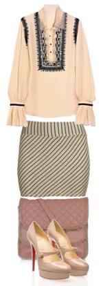 o-tan-mini-skirt-tan-top-blouse-peasant-tan-shoe-pumps-pink-bag-howtowear-fashion-style-outfit-spring-summer-work.jpg