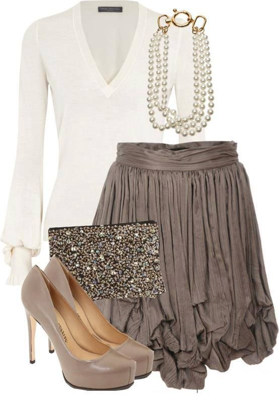 o-tan-mini-skirt-white-top-blouse-pearl-necklace-tan-bag-clutch-tan-shoe-pumps-ruffle-howtowear-fashion-style-outfit-fall-winter-holiday-dinner.jpg