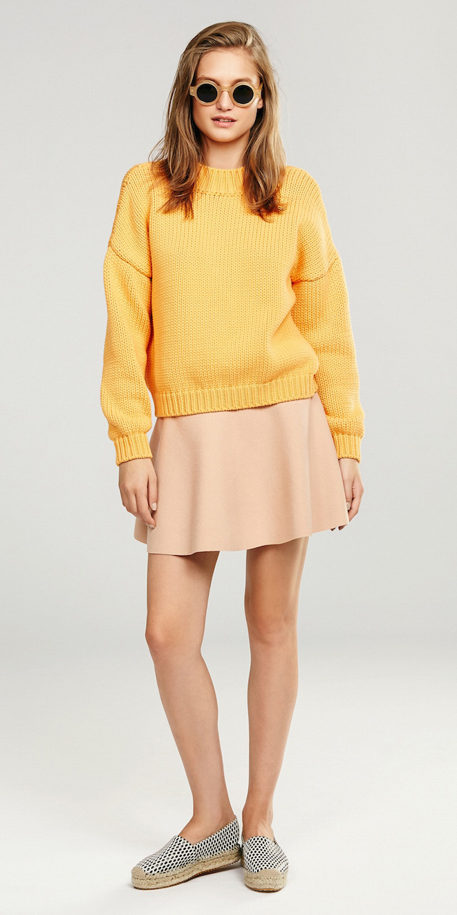 tan-mini-skirt-yellow-sweater-white-shoe-flats-sun-spring-summer-blonde-weekend.jpg