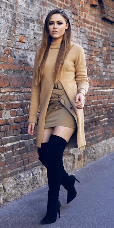tan-mini-skirt-tan-sweater-slit-tunic-black-shoe-boots-otk-fall-winter-blonde-dinner.jpg