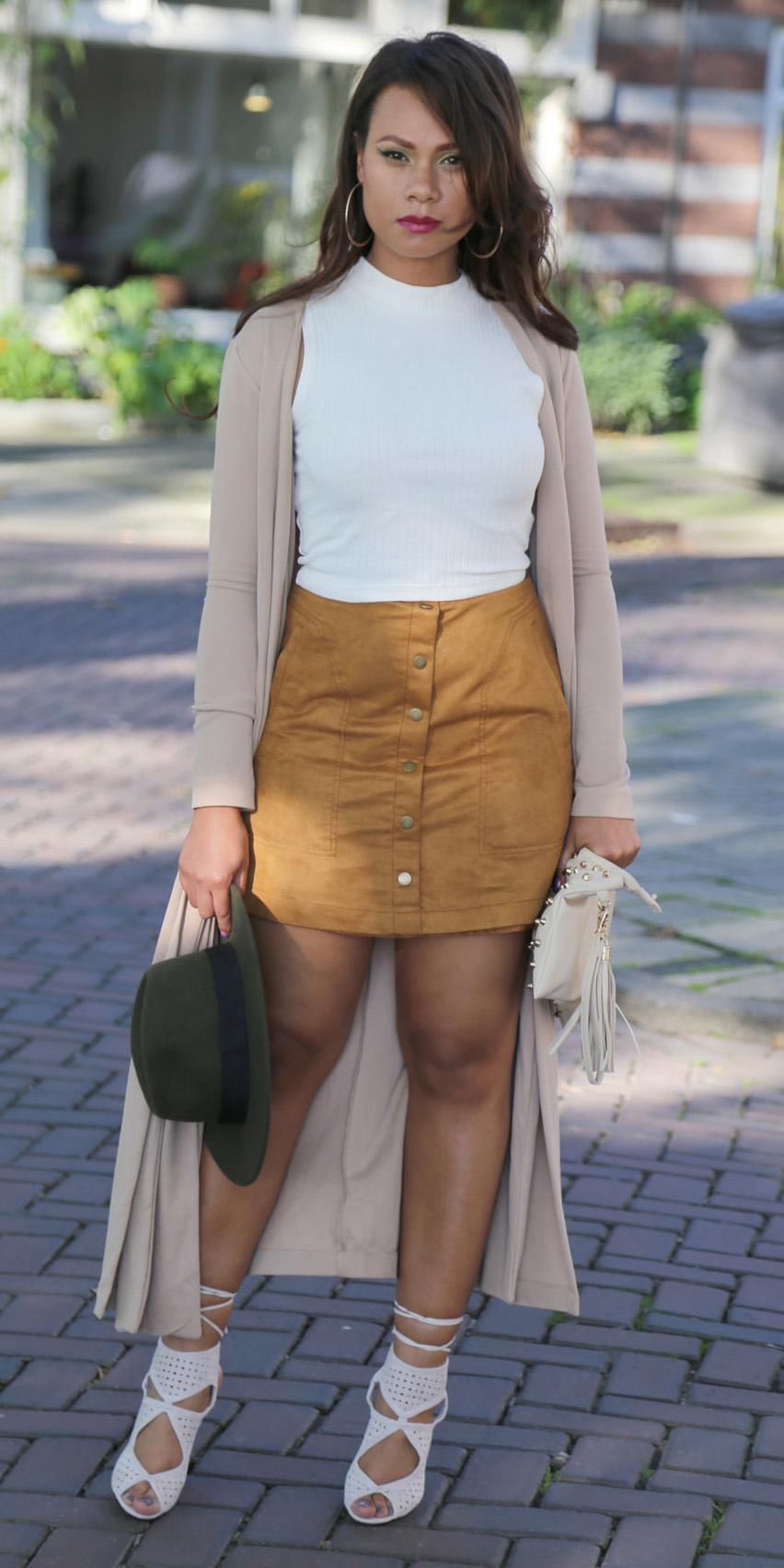 tan-mini-skirt-white-top-brun-hoops-hat-white-shoe-sandalh-tan-cardiganl-fall-winter-lunch.jpg