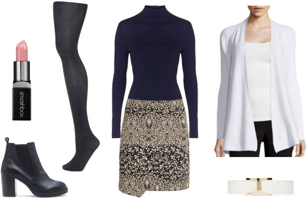 o-tan-mini-skirt-blue-navy-tee-white-cardiganl-howtowear-fashion-style-outfit-fall-winter-black-tights-turtleneck-black-shoe-booties-print-lunch-work.jpg