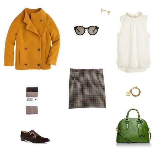 tan-mini-skirt-plaid-white-top-yellow-jacket-coat-green-bag-burgundy-shoe-brogues-tan-tights-sun-studs-fall-winter-lunch.jpg