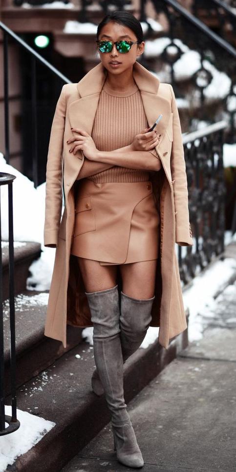 how-to-style-tan-mini-skirt-leather-tan-sweater-sun-brun-bun-gray-shoe-boots-otk-holiday-tan-jacket-coat-fall-winter-fashion-lunch.jpg