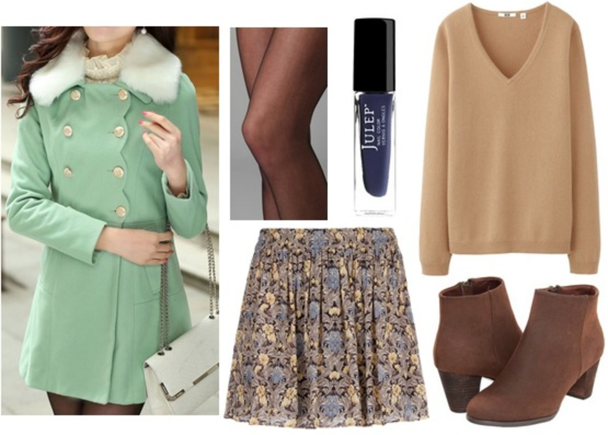 o-tan-mini-skirt-o-tan-sweater-black-tights-green-light-jacket-coat-brown-shoe-booties-print-howtowear-fashion-style-fall-winter-outfit-lunch.jpg