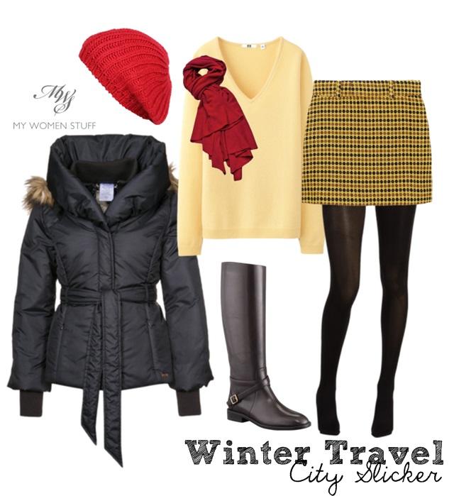 tan-mini-skirt-white-sweater-beanie-black-jacket-coat-puffer-black-tights-travel-fall-winter-plaid-houndstooth-red-scarf-black-shoe-boots-beanie-weekend.jpg