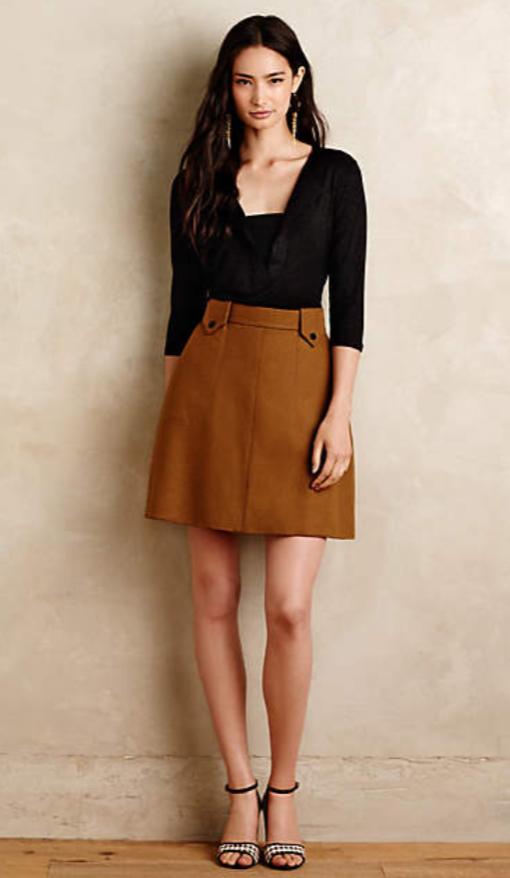 o-camel-mini-skirt-black-top-earrings-wear-style-fashion-fall-winter-black-shoe-sandalh-anthropologie-brun-lunch.jpg
