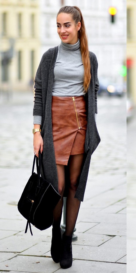 camel-mini-skirt-leather-black-tights-grayl-tee-turtleneck-black-shoe-booties-black-bag-pony-grayd-cardiganl-fall-winter-hairr-lunch.jpg