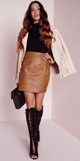 camel-mini-skirt-leather-black-sweater-white-jacket-black-bag-clutch-black-shoe-boots-fall-winter-hairr-dinner.jpg