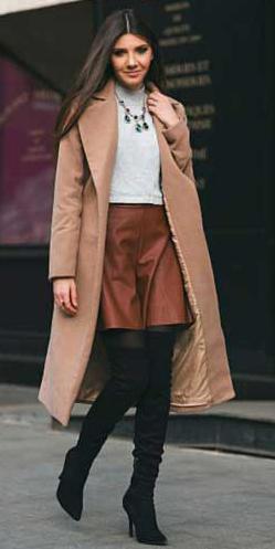 how-to-style-camel-mini-skirt-leather-bib-necklace-hairr-tan-jacket-coat-black-tights-black-shoe-boots-otk-fall-winter-fashion-dinner.jpg