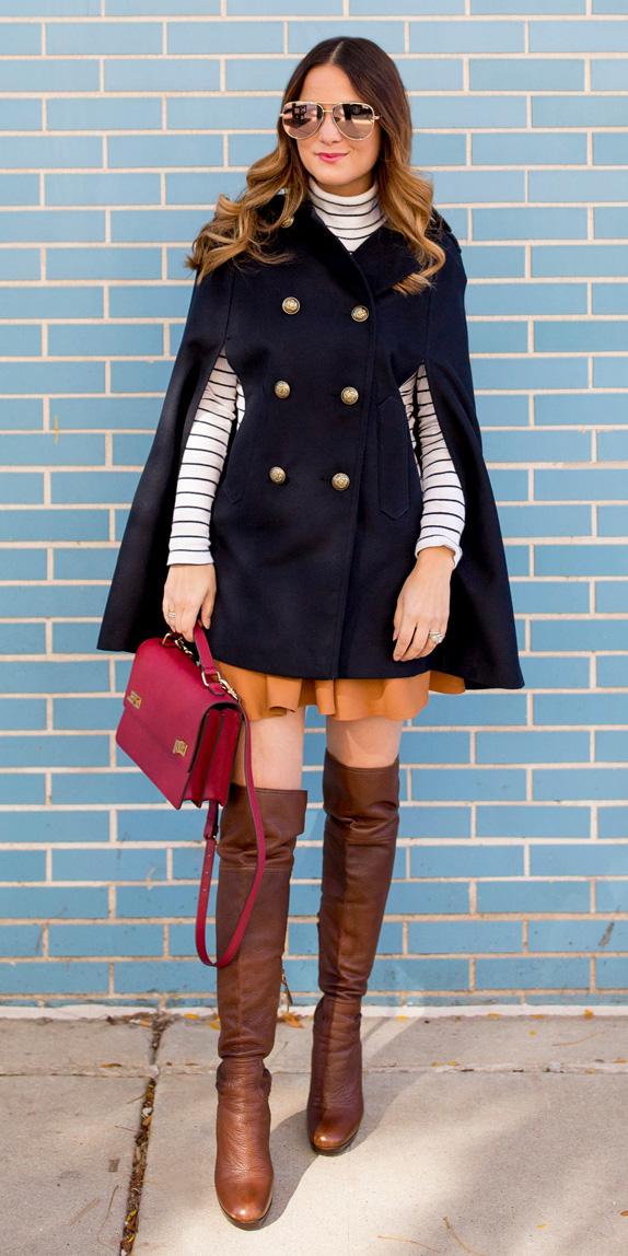 camel-mini-skirt-red-bag-brown-shoe-boots-otk-blue-navy-jacket-coat-cape-hairr-sun-white-tee-turtleneck-fall-winter-lunch.jpg