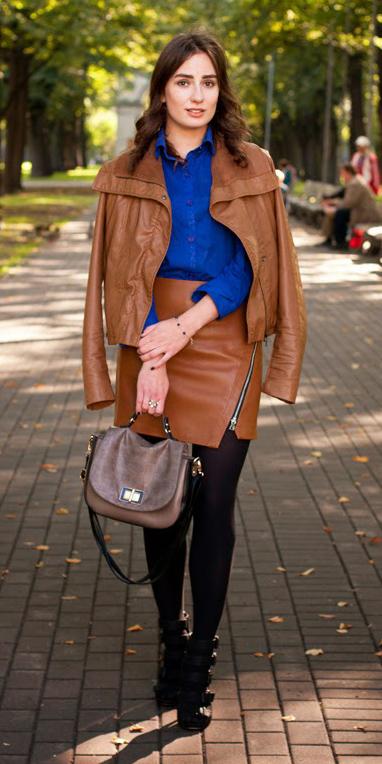 camel-mini-skirt-camel-jacket-moto-leather-blue-med-collared-shirt-cobalt-black-tights-black-shoe-booties-fall-winter-brun-lunch.jpg
