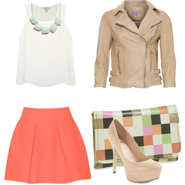 orange-mini-skirt-white-top-bib-necklace-tan-jacket-moto-tan-shoe-pumps-white-bag-clutch-easter-howtowear-fashion-style-outfit-spring-summer-lunch.jpg