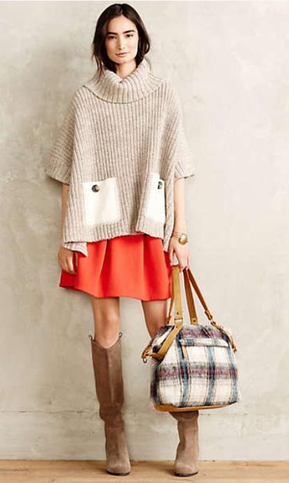 orange-mini-skirt-tan-sweater-ponch-white-bag-wear-style-fashion-fall-winter-turtleneck-tan-shoe-boots-anthropologie-brun-weekend.jpg