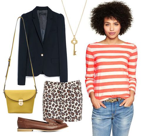 how-to-style-brown-mini-skirt-leopard-print-mix-prints-black-jacket-blazer-yellow-bag-brown-shoe-loafers-orange-tee-stripe-fall-winter-fashion-lunch.jpg