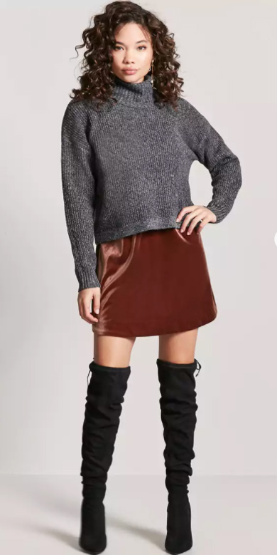 brown-mini-skirt-grayd-sweater-turtleneck-black-shoe-boots-otk-fall-winter-brun-lunch.jpg