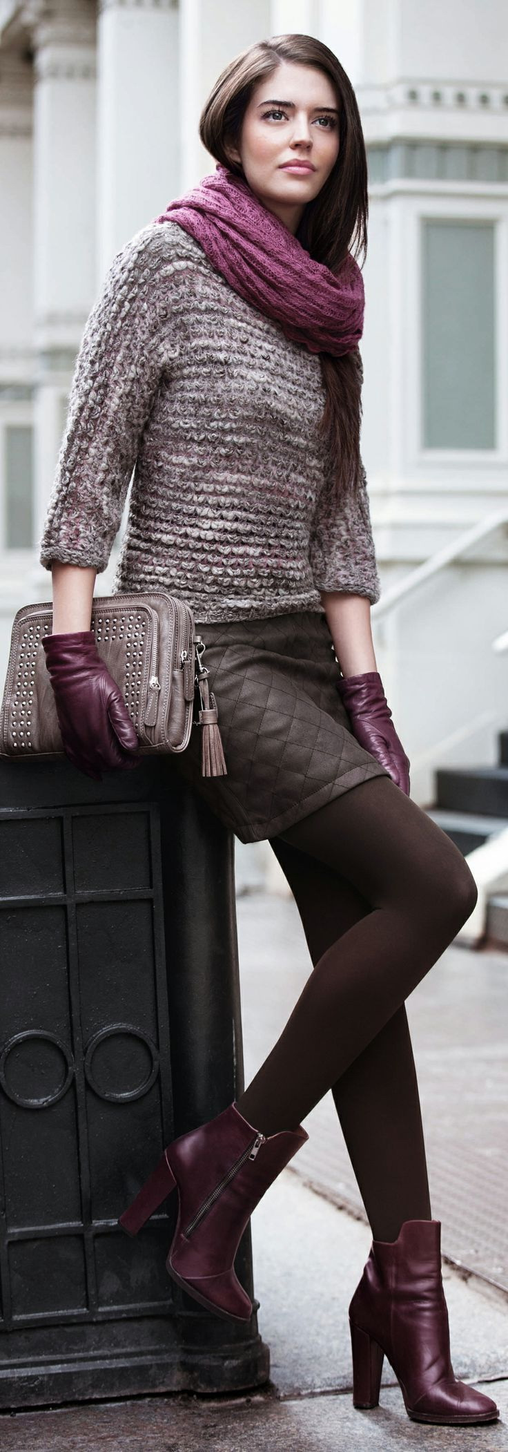 how-to-style-brown-mini-skirt-burgundy-scarf-brun-brown-tights-gloves-burgundy-shoe-booties-fall-winter-fashion-lunch.jpg