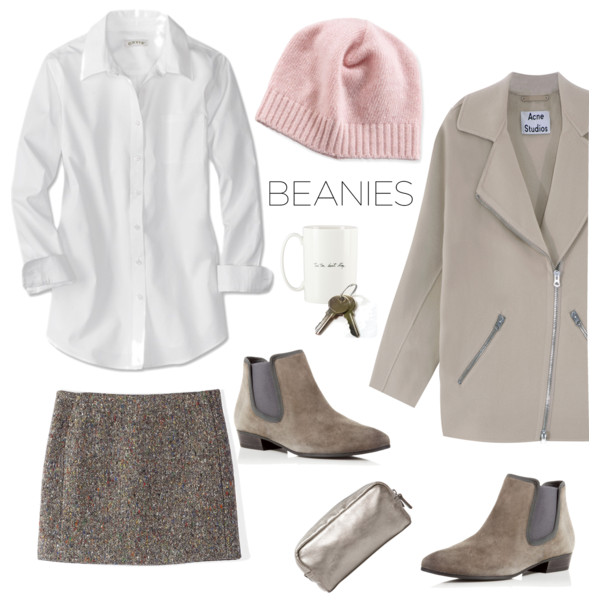 brown-mini-skirt-white-collared-shirt-beanie-tan-jacket-coat-tan-shoe-booties-fall-winter-weekend.jpg