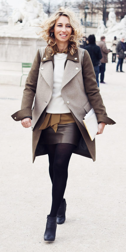 brown-mini-skirt-camel-collared-shirt-white-sweater-brown-jacket-coat-blonde-fall-winter-lunch.jpg