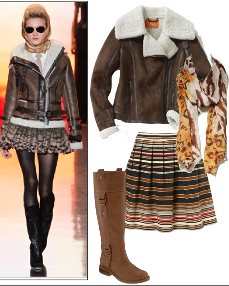 o-brown-mini-skirt-brown-jacket-coat-shearling-yellow-scarf-stripe-cognac-shoe-boots-blonde-howtowear-fashion-style-outfit-fall-winter-lunch.jpg