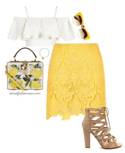 yellow-mini-skirt-white-top-offshoulder-lace-sun-yellow-bag-tan-shoe-sandalh-howtowear-fashion-style-outfit-spring-summer-lunch.jpg