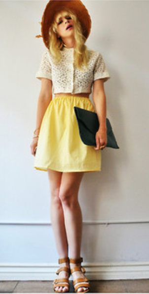 yellow-mini-skirt-white-top-crop-hat-cognac-shoe-sandals-howtowear-fashion-style-outfit-spring-summer-blonde-lunch.jpg