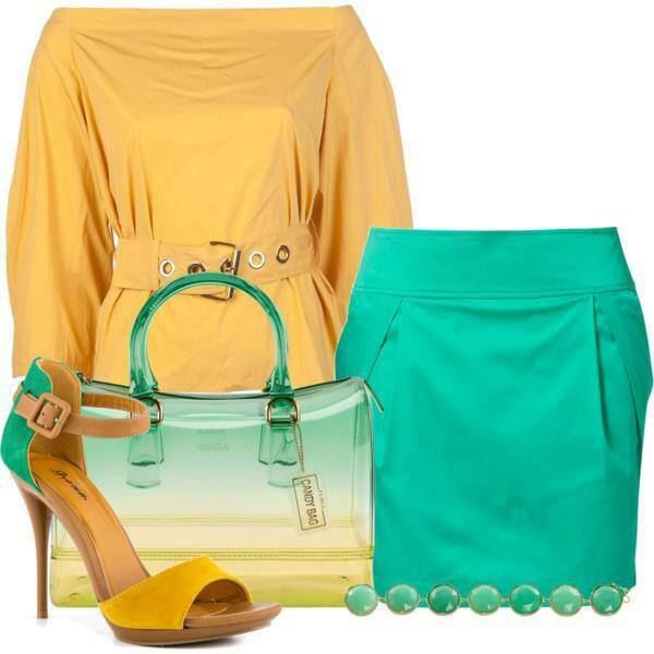 green-emerald-mini-skirt-yellow-top-blouse-green-bag-yellow-shoe-sandalh-howtowear-fashion-style-outfit-spring-summer-lunch.jpg
