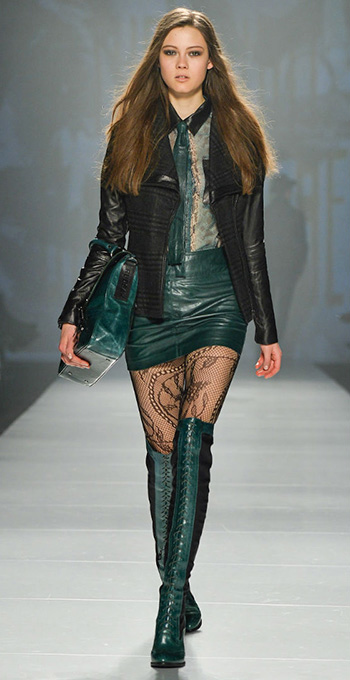 green-dark-mini-skirt-green-dark-top-blouse-sheer-black-jacket-moto-green-shoe-boots-green-bag-black-tights-howtowear-fashion-style-outfit-fall-winter-hairr-dinner.jpg