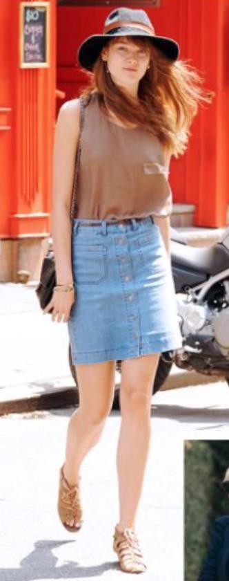 blue-light-mini-skirt-brown-cami-belt-black-bag-wear-style-fashion-spring-summer-tan-shoe-sandals-hat-hairr-weekend.jpg