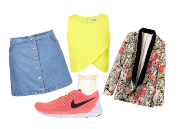 blue-light-mini-skirt-yellow-top-crop-pink-magenta-jacket-blazer-howtowear-fashion-style-outfit-spring-summer-floral-print-button-magenta-shoe-sneakers-lunch.jpg