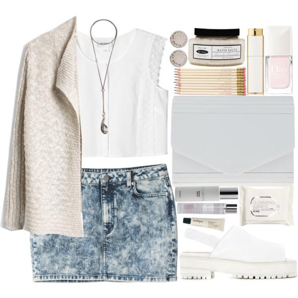 27ef8456b blue-light-mini-skirt-white-top-crop-necklace-