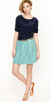 blue-light-mini-skirt-blue-navy-top-dot-belt-tan-shoe-sandals-aqua-howtowear-fashion-style-outfit-spring-summer-blonde-lunch.jpg