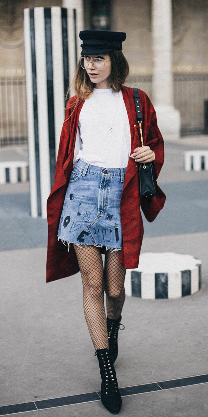 blue-light-mini-skirt-white-tee-red-jacket-coat-black-tights-fishnet-black-hat-black-bag-black-shoe-booties-newsboycap-fall-winter-hairr-lunch.jpg