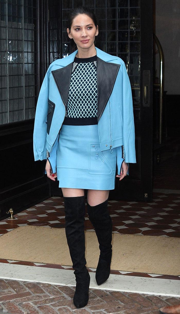 blue-light-mini-skirt-leather-blue-light-sweater-blue-light-jacket-black-shoe-boots-otk-oliviamunn-fall-winter-brun-dinner.jpg