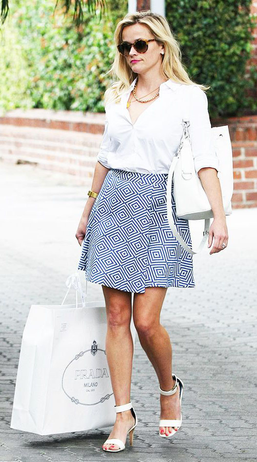 blue-med-mini-skirt-white-collared-shirt-white-bag-sun-necklace-white-shoe-sandalh-reesewitherspoon-howtowear-style-spring-summer-blonde-work.jpg