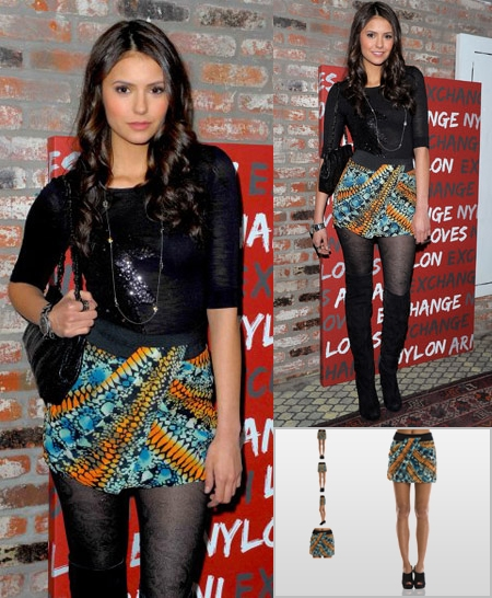 blue-med-mini-skirt-black-top-necklace-black-bag-print-black-tights-black-shoe-boots-ninadobrev-armaniexchange-brun-howtowear-fashion-style-outfit-fall-winter-dinner.jpg