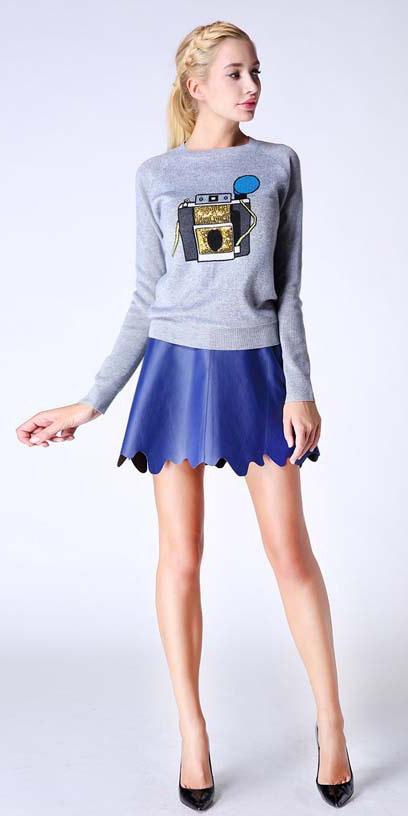 blue-med-mini-skirt-grayl-sweater-sweatshirt-pony-black-shoe-pumps-spring-summer-blonde-lunch.jpg